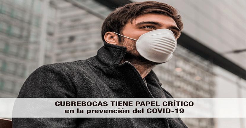 Imagen Cubrebocas tiene papel crítico en la prevención del COVID-19