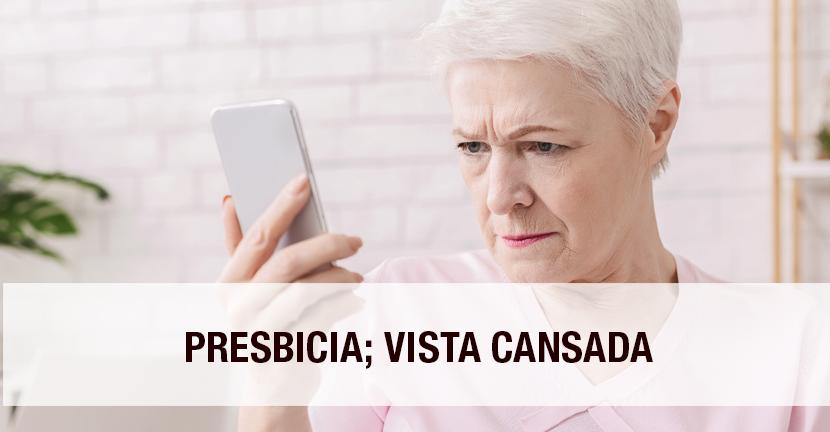 Imagen Presbicia, vista cansada