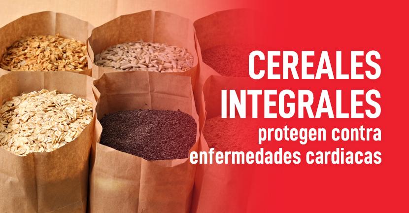 Imagen Cereales integrales protegen contra enfermedades cardiacas