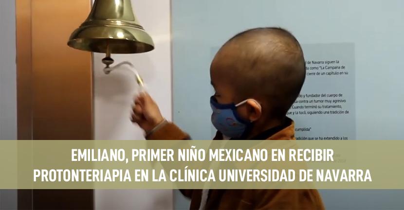 Imagen Emiliano, primer niño mexicano en recibir Protonterapia en la Clínica Universidad de Navarra