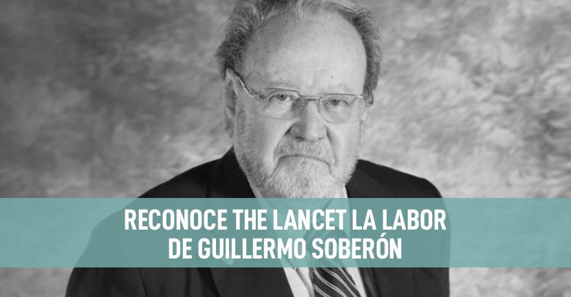 Imagen Reconoce The Lancet la labor de Guillermo Soberón