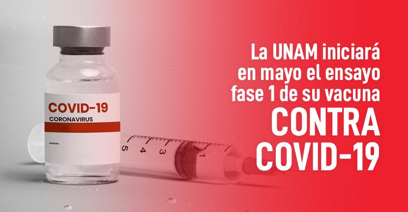 Imagen La UNAM iniciará en mayo el ensayo fase 1 de su vacuna contra Covid-19