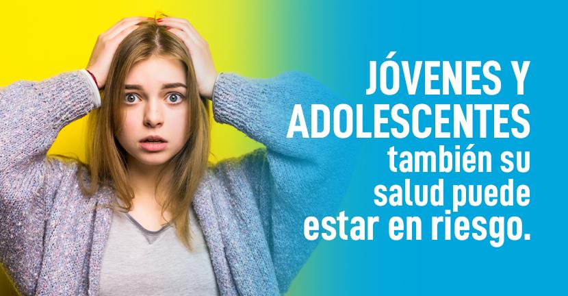Imagen Jóvenes y adolescentes, también su salud puede estar en riesgo