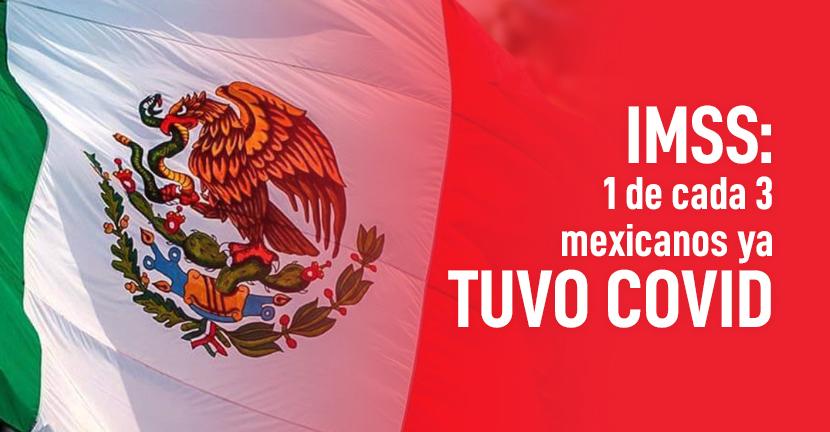 Imagen del artículo IMSS 1 de cada 3 mexicanos ya tuvo COVID