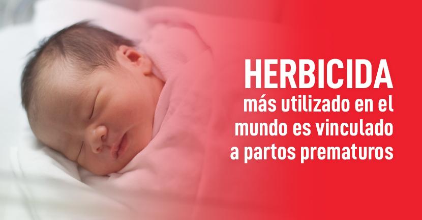 Imagen Herbicida más utilizado en el mundo es vinculado a partos prematuros