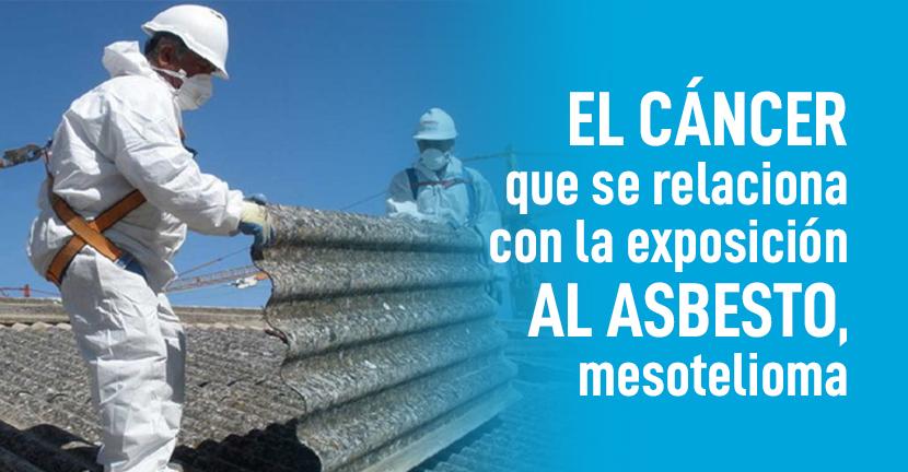 Imagen El cáncer que se relaciona con la exposición al asbesto, mesotelioma