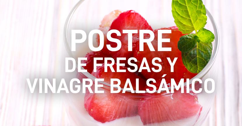 Imagen de la receta Postre de fresas y vinagre balsámico