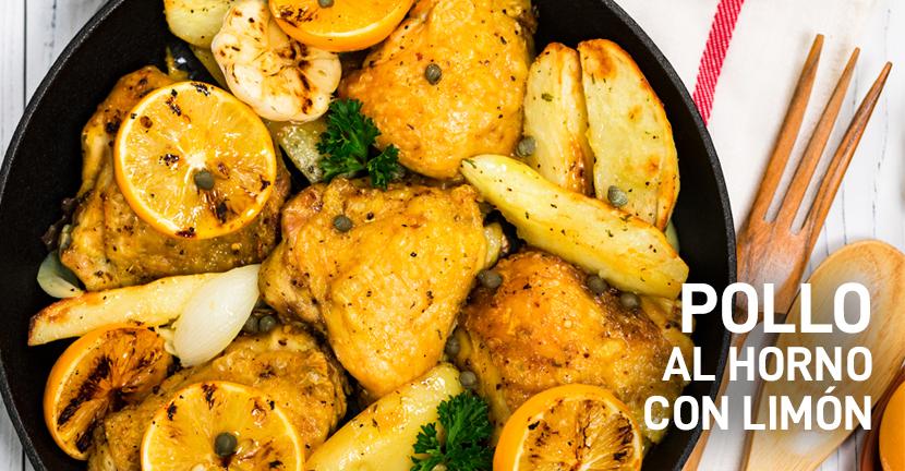 Imagen de la receta Pollo al horno con limón