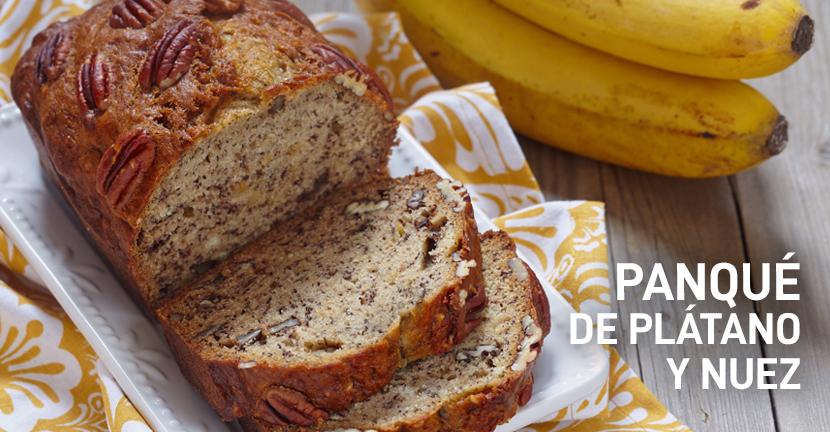 Imagen de la receta Panqué de plátano y nuez