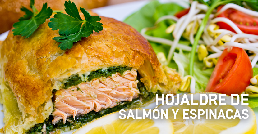 Imagen de la receta Hojaldre de salmón y espinacas