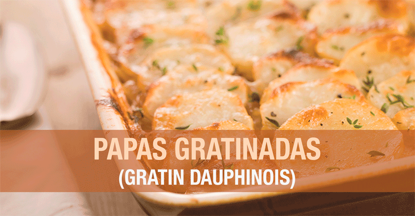 Imagen de la receta Papas gratinadas (gratin dauphinois)