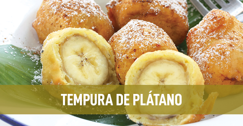 Imagen de la receta Tempura de plátano