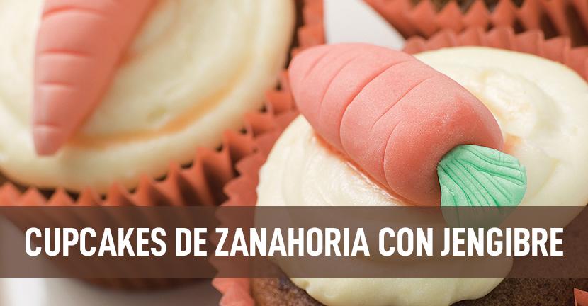 Imagen de la receta Cupcakes de zanahoria con jengibre