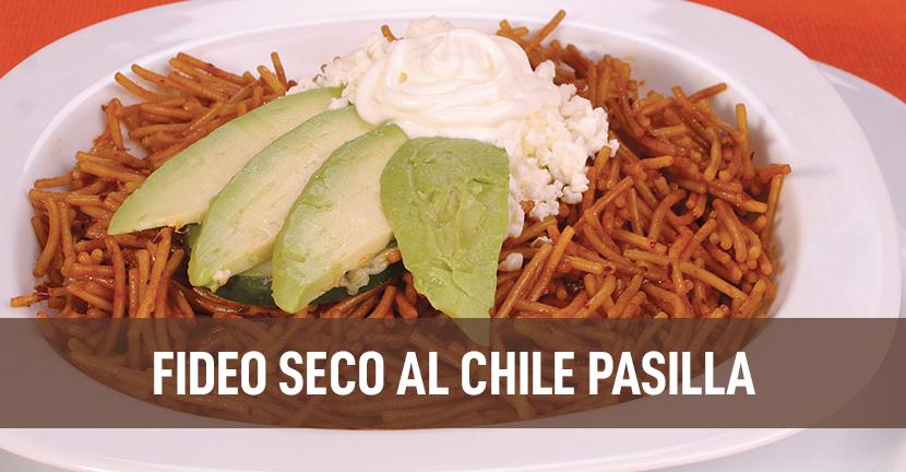 Imagen de la receta Fideo seco al chile pasilla