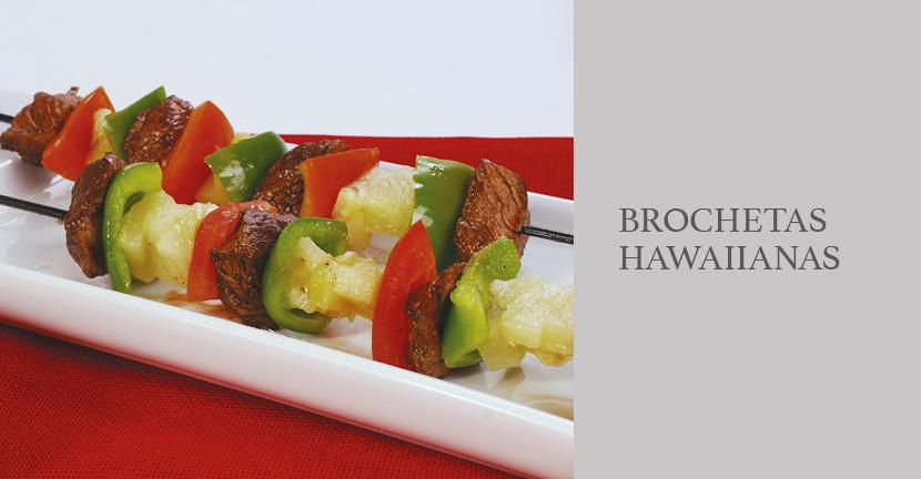 Imagen de la receta Brochetas hawaianas