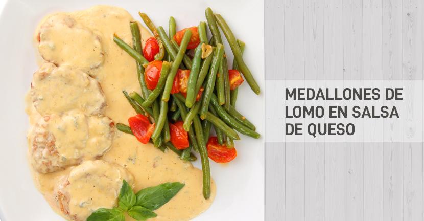 Imagen de la receta Medallones de lomo en salsa de queso