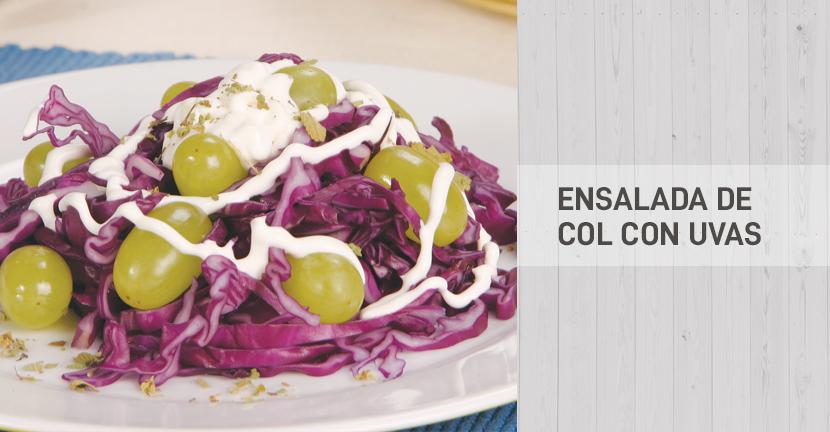 Imagen de la receta Ensalada de col con uvas