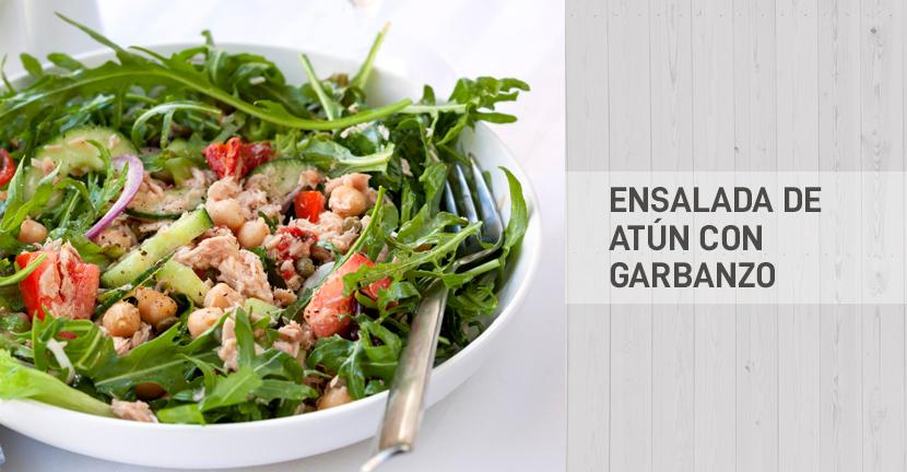 Imagen de la receta Ensalada de Atún con garbanzo