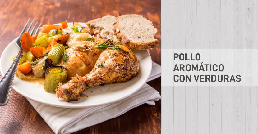 Imagen de la receta Pollo aromático con verduras