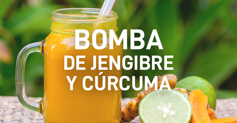 Imagen de la receta Bomba de jengibre y cúrcuma