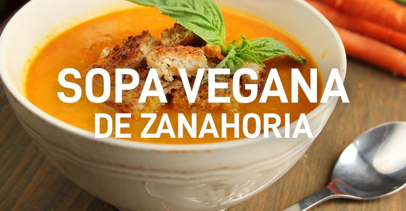 Sopa vegana de zanahoria
