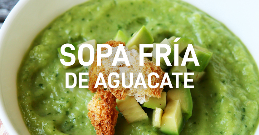 Imagen de la receta Sopa fría de aguacate